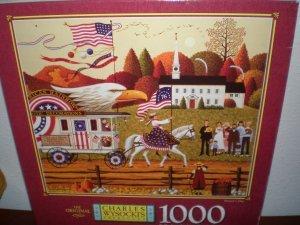 Charles Wysocki PATRIOTS DAY Puzzle 1000 piece