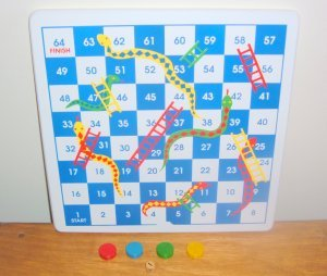 Snakes and Ladders Wood board game