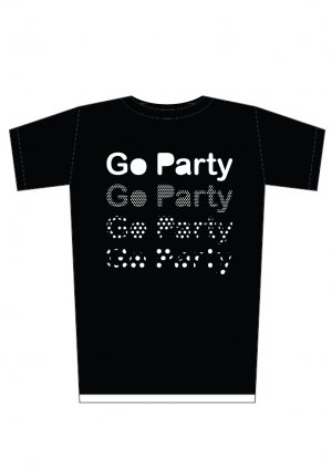 """Brand New Design Print 'Go Party"""" tee SIZE L"""
