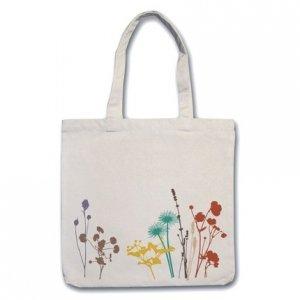 Multi Color Herb Flower Tote Bag