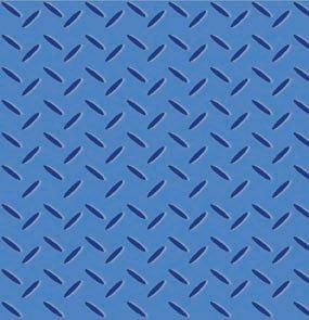 Avlyn Heavy Duty Construction Blue Safety Diamond Plate Cotton Fabric
