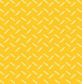 Avlyn Heavy Duty Construction Yellow Safety Diamond Plate Cotton Fabric