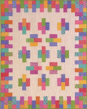 Atkinson Designs Cheese & Crackers Beginner Fat Quarter Quilt Top Pattern ATK-135 LAST ONE!
