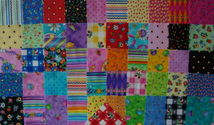 "51 3"" Square Fabric Charms Quilt Blocks Summer Fun Designs"