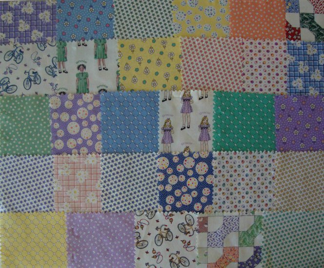 """39 4"""" x 4 1/2"""" Reproduction Fabric Charms Quilt Blocks Gracie Annie"""
