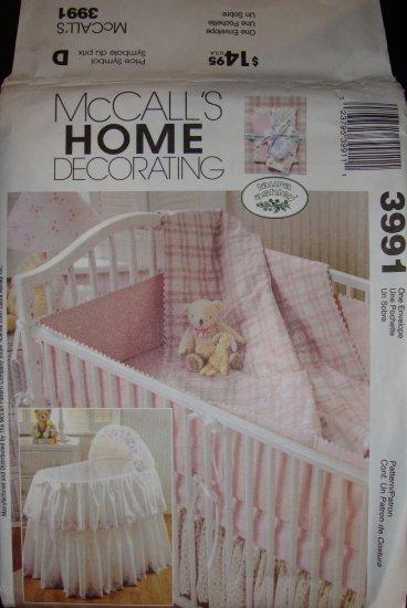 McCall's Home Decorating Laura Ashley Nursery Pattern 3991