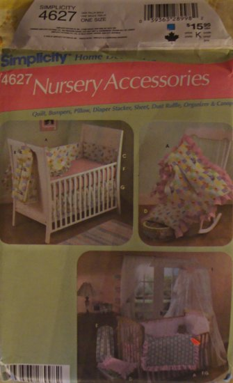 Simplicity Home Decorating Nursery Accessories Pattern 4627