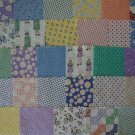 "39 4"" x 4 1/2"" Reproduction Fabric Charms Quilt Blocks Gracie Annie"