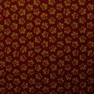 F8 Thimbleberries Circle of Love Tan Flowers on Burgundy RJR Lynette Jensen Fabric Fat Eighth F8th