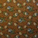 F8 Thimbleberries Sunshine & Shadow Flower Toss on Brown RJR Lynette Jensen Fabric Fat Eighth F8th