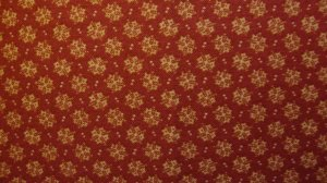 F8 Thimbleberries Cream Snowflakes on Red RJR Lynette Jensen Quilt Fabric Fat Eighth F8th