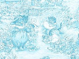 1 4 Yard Beatrix Potter Peter Rabbit Alphabet Garden Blue