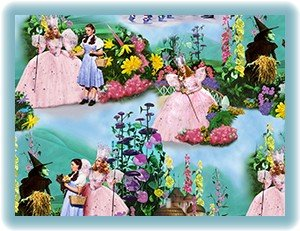 1 7/8+ Yards Wizard of Oz Over the Rainbow Munchkin Land Scenic Quilting Treasures Fabric Bolt End