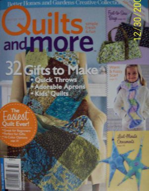 Better Homes & Gardens Quilts and More Winter 2008 Magazine NEW