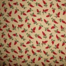 FQ Thimbleberries Red Flowers on Tan Quilt Club RJR Lynette Jensen Cotton Fabric Fat Quarter