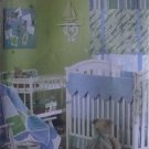 Butterick Waverly Baby Nursery Quilt Coverlet Crib Sheet Skirt Bumper Shade Rail Liner Pattern B4947