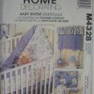 Baby Room Essentials Toile Gingham Nursery Pattern M4328 by McCall's Home Decorating