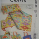 Artful Offerings Quilt Zip Case Diaper Bag Tote Pillow Pattern M6340 by McCall's Crafts