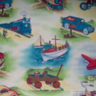 FQ Retro Fun In Transit Transporation Vehicles Fat Quarter Kids Cotton Michael Miller Fabric