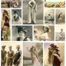 Vintage Paris Pink Beach Collage Sheet