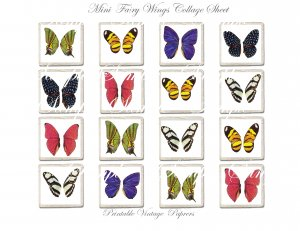 Mini Fairy Wings Collage Sheets