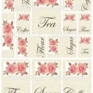 Shabby n Chic Roses Canister Labels Digital Collage Sheet