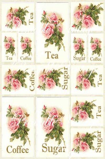 Sugar Roses Shabby n Chic  Digital Collage Sheet