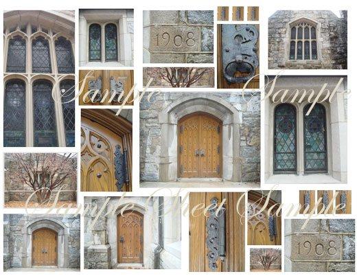 Digital Collage Sheet Haunted Halloween Chapel EC