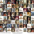 Scrabble Tiles Inches Marie Antoinette Paris Digital Collage Sheet EC161