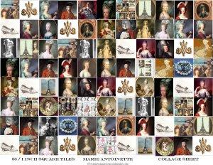 Scrabble Tiles Inches Marie Antoinette Paris Digital Collage Sheet EC161