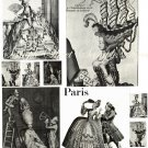 Big Hair Marie Antoinette Funny Digital Collage Sheet EC145