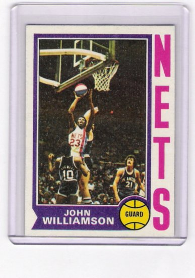 John Williamson Nets 1974-75 Topps RC  # 234