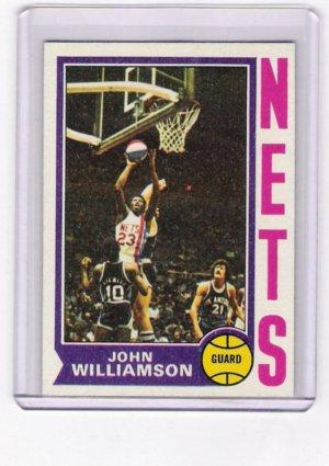 John Williamson Nets 1974-75 Topps RC  # 234