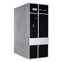 POWMAX Silver Steel ATX Mid Tower Computer Case w/ 400W Power Supply