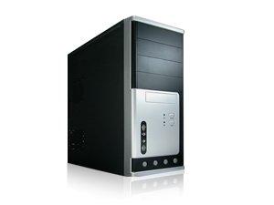 iMicro ATX Mid Tower Case Black/Silver