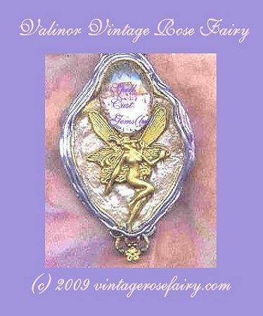 TOLKIEN JEWELRY/Valinor Vintage Rose Fairy Necklace/Spell Cast Gems(tm)/Natural Rose/Portal 3ec