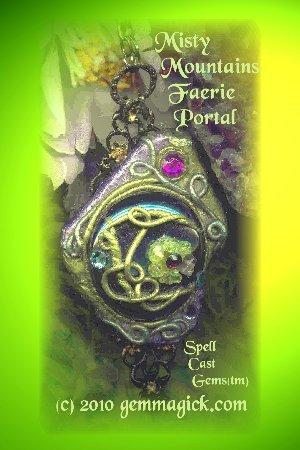 SPELL WORKER MAGIC(sm)/TOLKIEN JEWELRY/Misty Mountains Faerie Portal Necklace/Pendulum/Portal 4ec