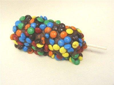 6 M&M Marshmallow Pops