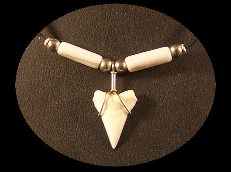 Shark Tooth Choker with Mother of Pearl