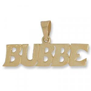 Judaica BUBBE charm letters jewelry pendant