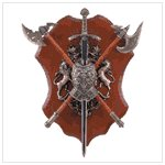 #34813 Sword And Axe Display