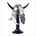 #38094 Viking Helmet with Wooden Stand