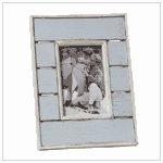 #36666 Distress Blue White Photo Frame