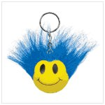 #36734 Blue Wild Smiley Face/Keyring