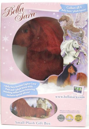 BELLA SARA Fiona Red Plush Toy Horse & Card Pack MIB