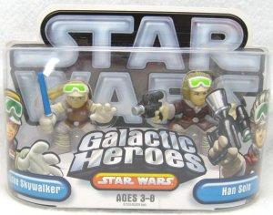 STAR WARS Galactic Heroes HOTH LUKE HAN ESB Figure Set