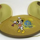Disneyland 50th Anniversary Souvenir Gold Mickey Ears