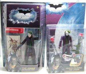 BATMAN Dark Knight JOKER Figure LOT 2 HEATH & Punch MOC
