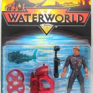 WATERWORLD Deacon Figure w/ Disc Firing Helmet & Shark