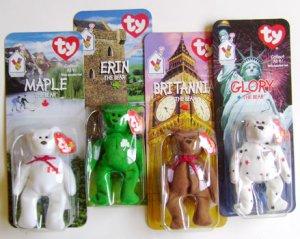 McDonalds Beanie Baby Maple Britannia Erin Glory Bear